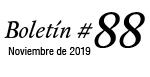Boletín #88 - Noviembre de 2019